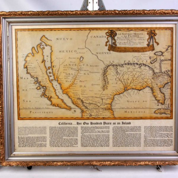 California Her One Hundred Years as an Island Antique Map